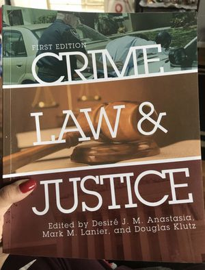 Crime Law & Justice Edited by Desire J. M. Anastasia, Mark M. Lanier, and Douglas Klutz for Sale in San Diego, CA