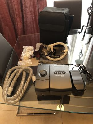 CPAP Machine Respironics with hose, nasal mask (different sizes), headgear, heated humidifier water chamber. Bag is included. for Sale in Miami, FL