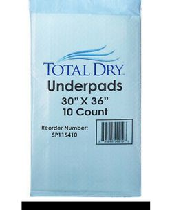 Total Dry Underpads / 10 ct each packet for Sale in Burbank,  CA