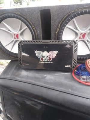 Kicker cvr 15s amp and kit ported box for Sale in Eagle Lake, FL