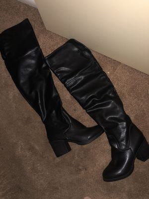 Size 7 leather boots from aldo with faux fur lining for Sale in Scottsdale, AZ