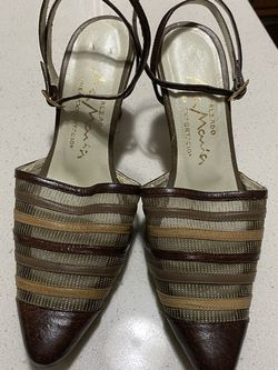 Vintage Ana Maria Leather Mesh Heels Sz 4 for Sale in Knightdale,  NC