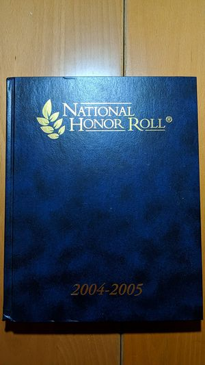 National Honor Roll Book 2004-2005 California for Sale in Hacienda Heights, CA