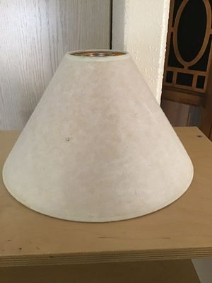 2 FREE Lampshades - 1rst one is paper (older, stained on inside from heat) & 2nd one is antiqued fabric for Sale in Aurora, OR