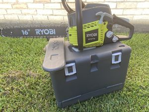 RYOBI 16 in. 37cc 2-Cycle Gas Chainsaw with Heavy-Duty Case for Sale in Houston, TX