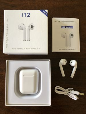 i12 Bluetooth wireless headphones for Android iPhone for Sale in Manchester, MO
