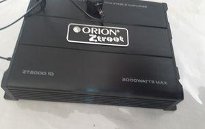 Mono block 1 channel Orion ztreet 2,000 watts for Sale in San Jacinto, CA