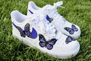 Custom Purple Butterfly Shoes -Nike Air Force 1 for Sale in Perris, CA