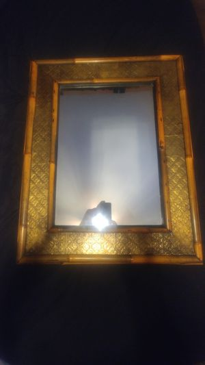 Bamboo and brass mirror for Sale in Amherst, VA