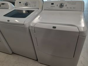 Maytag tap load washer and electric dryer set used in good condition with 90 day's warranty for Sale in Mount Rainier, MD