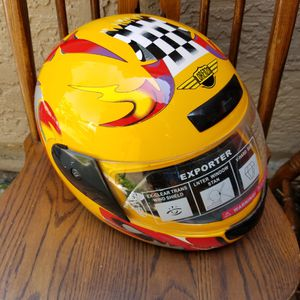 NEW (Never Worn) Full-Face Motorcycle Helmet Lorenzo Fire Model Sz- Small for Sale in Chandler, AZ