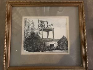 Matted and framed Thomasville print for Sale in Lexington, NC