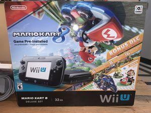 Wii U Mario Kart 8 Deluxe Set 32GB Nintendo for Sale in Snohomish, WA