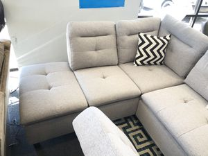 Brand new sectional sofa with pillows and ottoman $39 for Sale in Dallas, TX