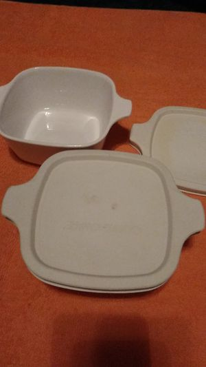Two small CorningWare containers for Sale in Bakersfield, CA