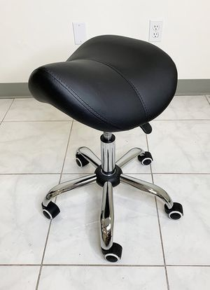Brand New $25 Saddle Stool Salon Spa Medical Swivel Hydraulic Seat Chair Rolling Wheels, Black Color for Sale in Downey, CA