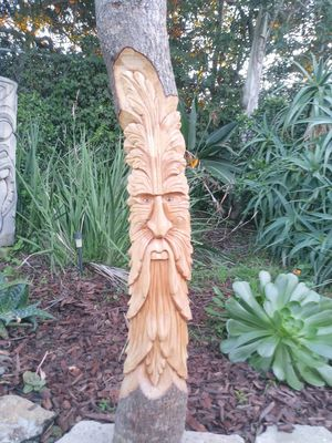 """Green Man Gnome wood wall plaque 39 """" for Sale in Spring Valley, CA"""