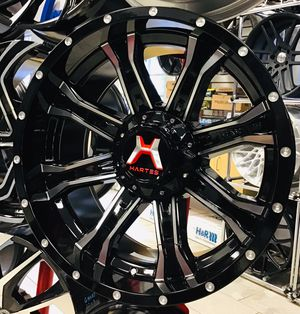 """BRAND NEW! 20"""" Hartes Metal Offroad Gloss Black Silver Rims Wheels 5x5 Jeep Wrangler 5x4.5 XD Fuel Moto for Sale in Tampa, FL"""
