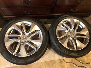 "Four Rim and tire originals Honda 17"" 225/50r17 for Sale in Gaithersburg, MD"