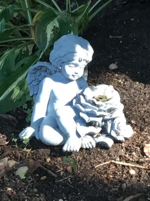 Cherub water sprinkler stone ? not sure if works for Sale in Sound Beach, NY