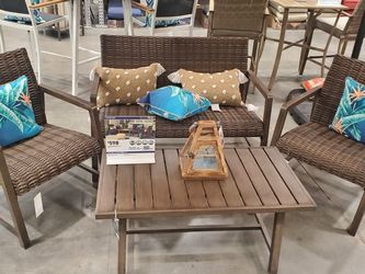 Patio Furniture 4 Piece Set- NO PILLOWS OR CUSHIONS INCLUDED... BRAND NEW IN THE BOX for Sale in Las Vegas,  NV