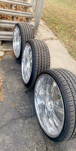 """24"""" rims and tires for Sale in Lewiston, ME"""