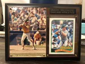 Mark McGwire Oakland A's Plaque with Photo and Topps Baseball Card 8x6 inches for Sale in Hayward, CA
