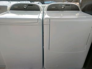 """WHIRLPOOL CABRIO PLATINUM"" MATCHING SET WASHER AND GAS DRYER KING SIZE CAPACITY PLUS 5.0 cu ft for Sale in Phoenix, AZ"