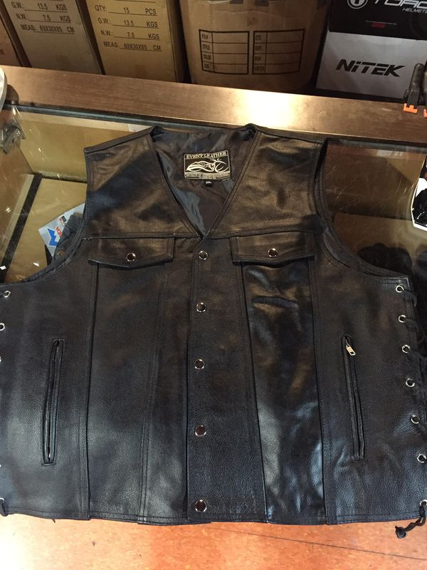 New motorcycle leather vest $90
