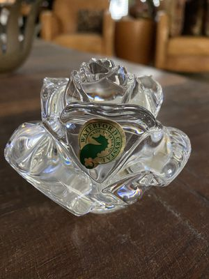 Mint Condition Signed Waterford Crystal Rose 🌹 Paperweight for Sale in Austin, TX