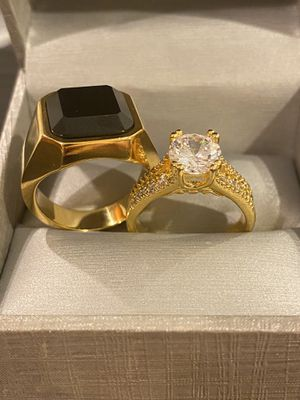 18K Gold plated Matching Ring Set- Code SWS20 for Sale in Washington, DC