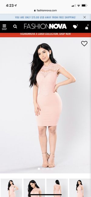 Fashion Nova pink/blush color Dress for Sale in Long Beach, CA