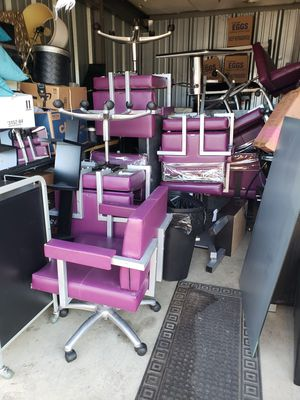 CHEAP PRICES !!!!🤩🤩COLLINS Salon chairs )Hair stylist Chair$75+mat , Wash station chairs $55.00, Manicure chairs $50.00.. for Sale in Mount Vernon, OH