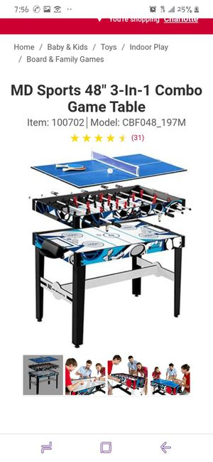 3 in one game table for Sale in South Norfolk, VA
