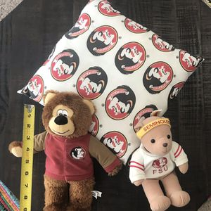 FSU Florida State Seminoles Pillow and Plush $7 for all for Sale in Port St. Lucie, FL
