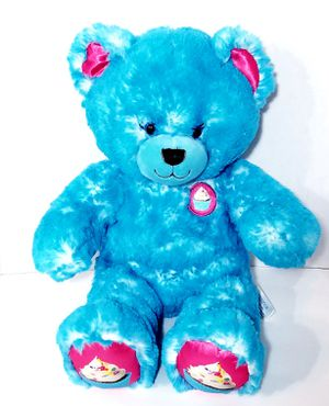 """Build a Bear 16"""" Blue Frosted White Pink Cupcake Teddy Bear Plush BABW Stuffed for Sale in Dale, TX"""