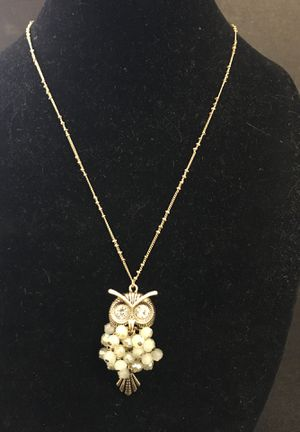 Designer Owl Pendant Necklace on Gold atoned, Xtra Long Chain, Wonderful Quality & Like New Condition, Listing Hundreds Of Gift Ideas- for Sale in Miami, FL