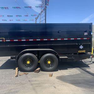 Dump Trailer 8x14x4 14000lb $8985 + Tax Lic for Sale in Whittier, CA