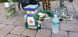 Ceramic Elephant candle or plant holder india Thailand Africa for Sale in New Port Richey, FL