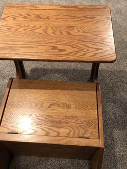 Oak Amish Made Desk/toy Bin for Sale in Loveland,  OH