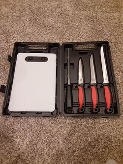 Fishing knife set and cutting board for Sale in Bristow,  VA