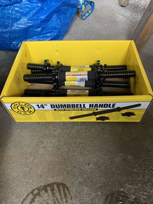 Golds Gym Dumbbell Handles with Spinlock Collar for Sale in Framingham, MA