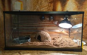 🐍40 Gallon Tank, Heat Lamp, Heat Pad, Water Bowl, Bedding, Gauges, and More BRAND NEW🐍 for Sale in Escondido, CA
