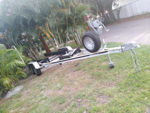 Aluminum dual axle boat trailer for Sale in St. Petersburg, FL