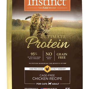 Instinct Ultimate Protein Grain-Free Cage-Free Chicken Recipe Freeze-Dried Raw Coated Dry Cat Food, 10-lb bag $30 Or Two For $50 for Sale in Richmond, CA