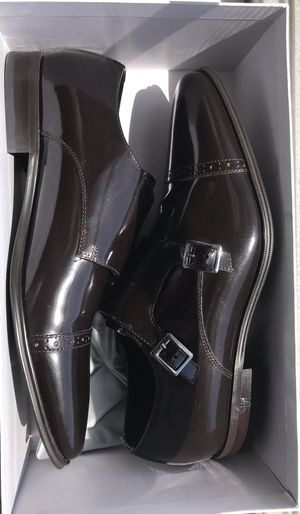 Brand new never worn authentic Versace mens shoes dark brown. Buckle. Size 44. for Sale in Miami, FL