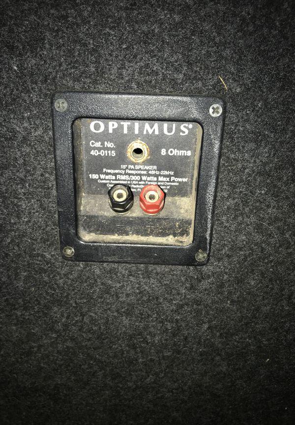 Optimus speakers/kenwood stereo receiver