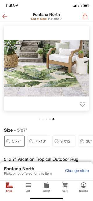 Threshold 5x7 leaf pattern rug for Sale in Fontana, CA