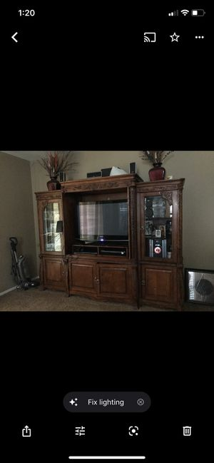 Rustic wood entertainment center for Sale in Phoenix, AZ