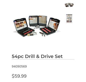 54 piece drill & drive set. USA made. for Sale in San Jose, CA